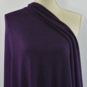 Rayon Cotton Modal Sweater Knit, Dark Plum - 1/2 meter