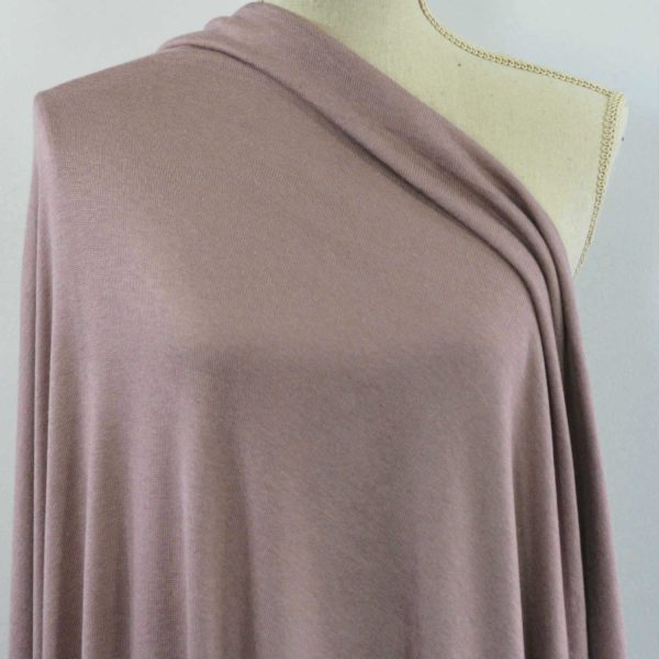 Rayon Cotton Modal Sweater Knit, Mellow Mauve - 1/2 meter