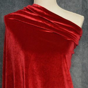 Stretch Velvet, Red - 1/2 meter