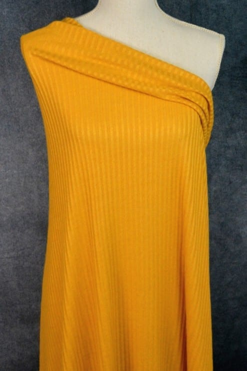 Ribbed Sweater Knit, Mustard - 1/2 meter