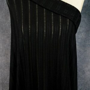 Ribbed Sweater Knit, Black - 1/2 meter