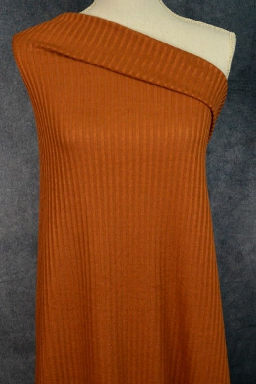 Ribbed Sweater Knit, Rust - 1/2 meter