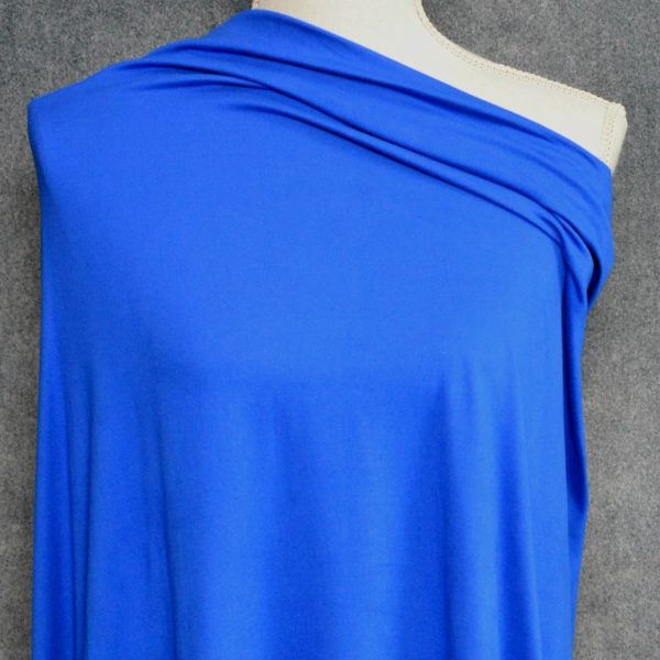Double Brushed Poly Spandex, ROYAL - 1/2 meter