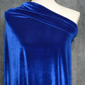 Stretch Velvet, Royal Blue - 1/2 meter