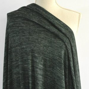 Melange Sweater Knit, Forest Nightfall - 1/2 meter