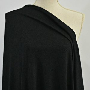 Rayon Cotton Modal Sweater Knit, Black - 1/2 meter