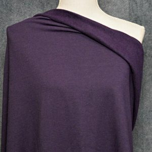 Bamboo Sweatshirt Fleece, Dark Plum- 1/2 meter
