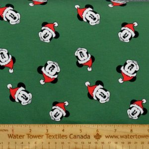Cotton Spandex, Santa Mickey (Limited) - 1/2 meter