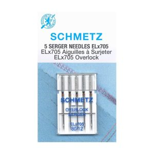 Schmetz, Overlock Serger Needles, ELx705 80/12, 5 count