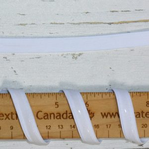 "Silicone Backed Elastic, 1/2"" White - 1 meter"