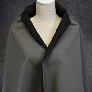 Soft Shell Fleece Back, Charcoal - 1/2 meter
