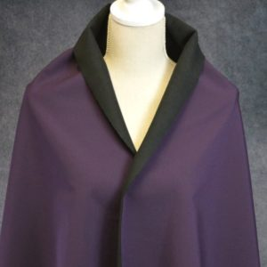 Soft Shell Fleece Back, Dark Plum - 1/2 meter