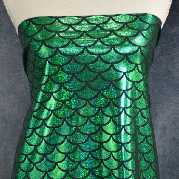 Sparkle Scales, Green - 1/2 Meter