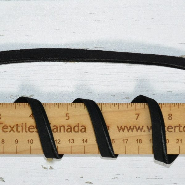 "Stretch Elastic Piping - 3/8"" Black - 1 meter"
