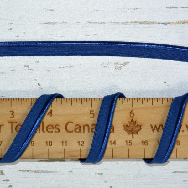 """Stretch Elastic Piping - 3/8"""" Naval Blue - 1 meter"""