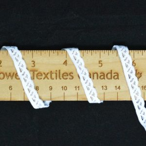 "Stretch Lace Trim, 3/8"" White - 1 meter"