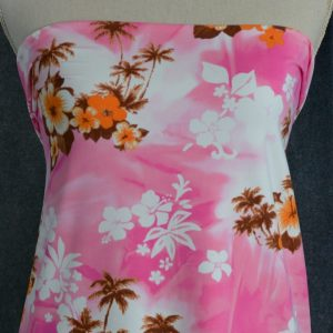 Nylon Spandex Swim Knit, Hawaiian Sunset - 1/2 meter