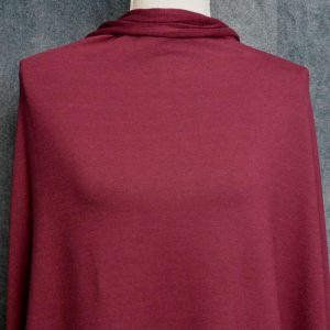 Tencel Stretch French Terry, Merlot (NC) - 1/2 meter