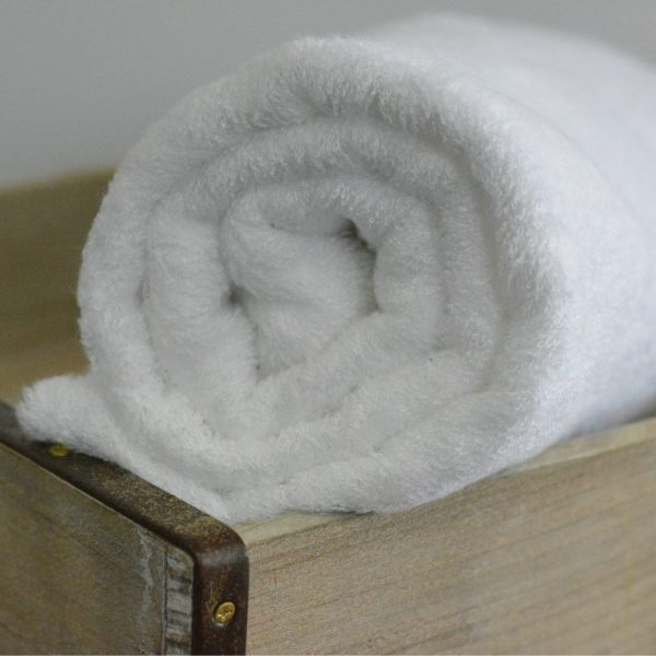 Bamboo Terry Toweling, White - 1/2 meter
