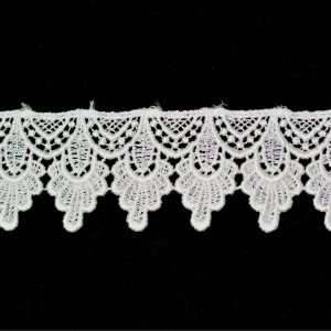 "Venice Lace Trim, 1.75"" Ivory - 1 meter"