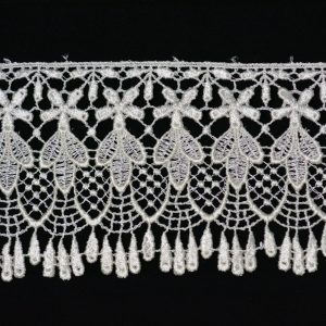 "Venice Lace Trim, 4"" Ivory - 1 meter"