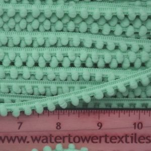 Baby Pom Pom Trim, Dark Mint - 1 meter