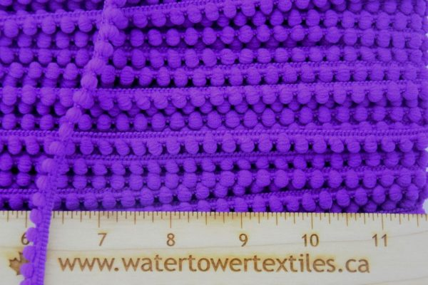 Baby Pom Pom Trim, Purple - 1 meter