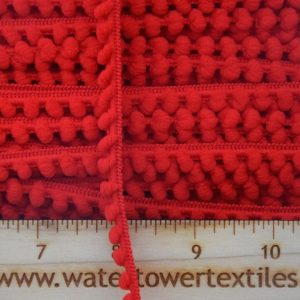 Baby Pom Pom Trim, Red - 1 meter