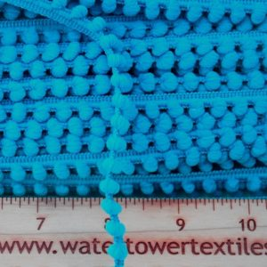 Baby Pom Pom Trim, Bright Blue - 1 meter