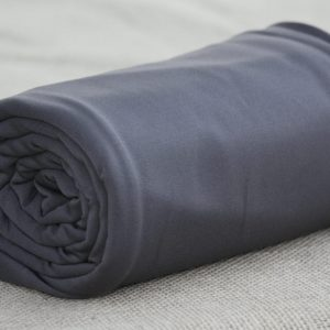 Fleece-Back Polyester Spandex, Dark Shadow - 1/2 meter