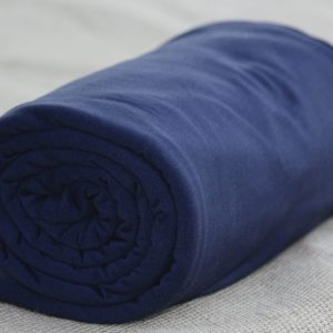 Fleece-Back Polyester Spandex, Navy - 1/2 meter