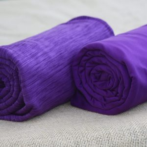 Fleece-Back Polyester Spandex, Heather Purple - 1/2 meter