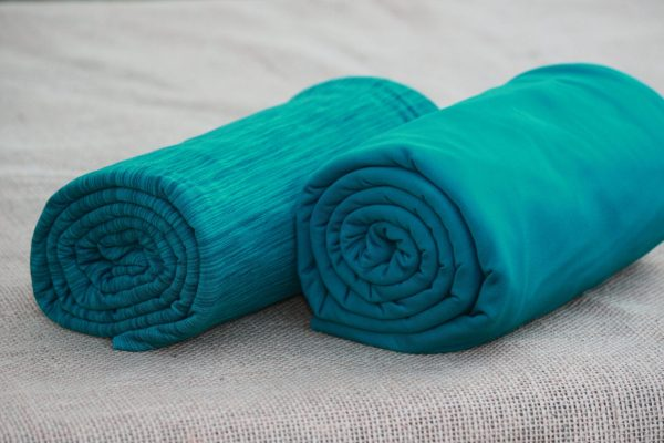 Fleece-Back Polyester Spandex, Teal - 1/2 meter