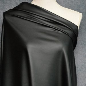 Faux Leather, Black - 1/2 Meter