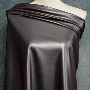 Faux Leather, Metallic Hickory - 1/2 meter