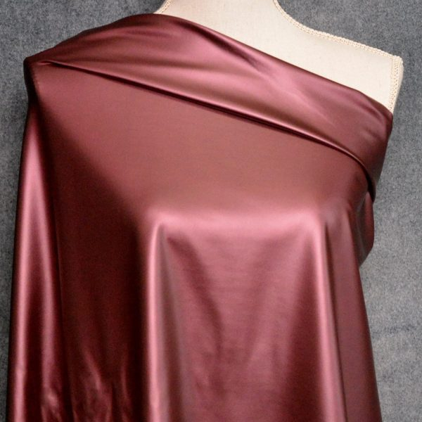 Faux Leather, Metallic Wine - 1/2 Meter