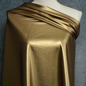 Faux Leather, Metallic Gold - 1/2 meter