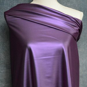 Faux Leather, Metallic Purple - 1/2 meter