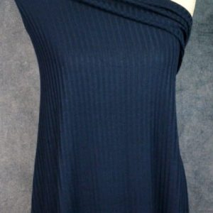 Ribbed Sweater Knit, Navy - 1/2 meter