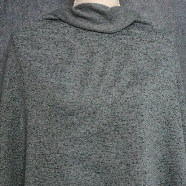 Sweater Knit Fleece, Heather Charcoal - 1/2 meter