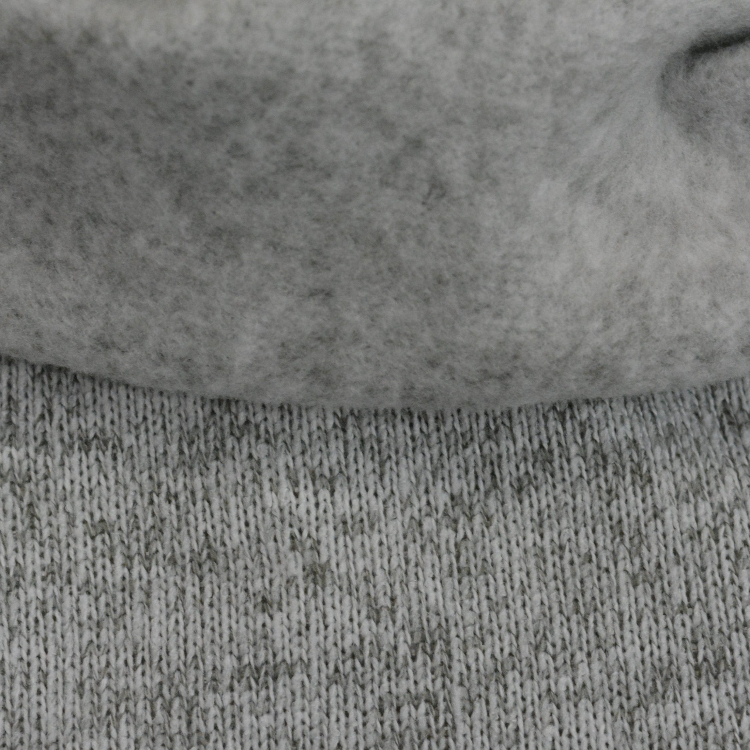 Sweater Knit Fleece, Heather Grey - 1/2 meter