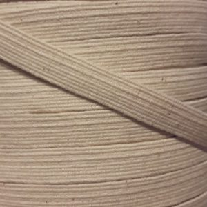 "3/8"" (10 mm) Swim Elastic, Cotton, Natural - 1 meter"