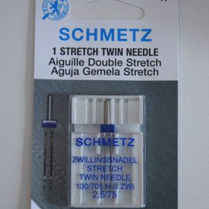 Schmetz Twin Stretch Needle, size 2.5/75, 1 count
