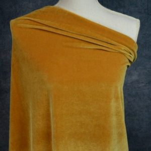 Stretch Velvet, Inca Gold - 1/2 meter