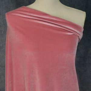 Stretch Velvet, Dusty Rose - 1/2 meter