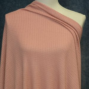 WAFFLE Knit, Coral Haze - 1/2 meter